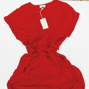 "Brand New! ""Universal Red"" Wrap Dress in Red"